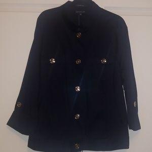 Jones New York jeans/military style navy jacket 3x